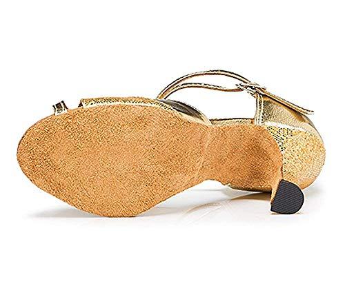 Y Zapatos Moderno Para Medios Latino Lado De Fuxitoggo Dorado Salón Brillante Baile Mujer Tacones g8wxdqwPWU