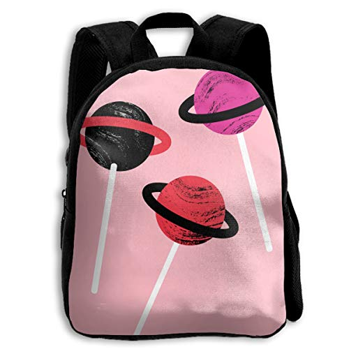Planet Lolipop Children's Zippered Full Size Printed School Bag Backpack -