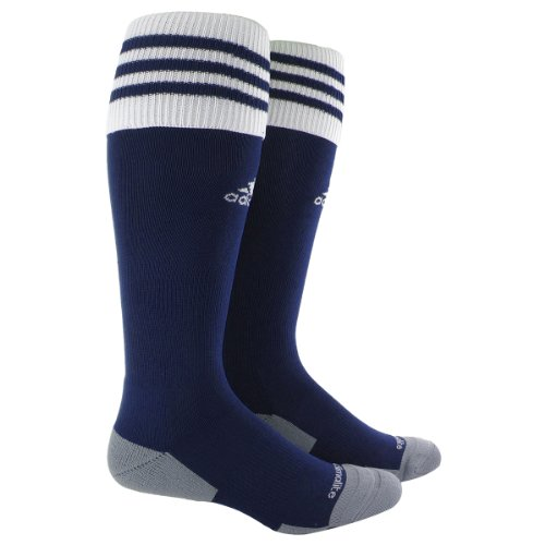 adidas Copa Zone Cushion II Sock, New Navy/White, Large (Navy Womens Rugby)