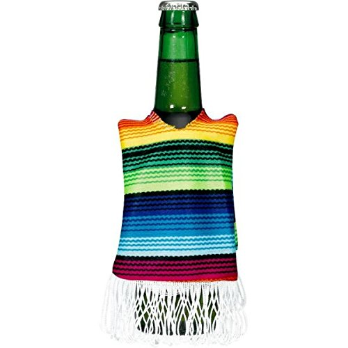 Cinco De Mayo Rainbow Striped Fabric Bottle Cover, 12 Oz. | Party Accessory