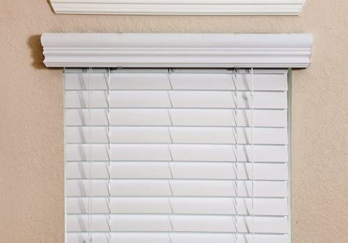 Fauxwood Impressions 36003550 35.5-Inch by 36-Inch Window Blinds, White