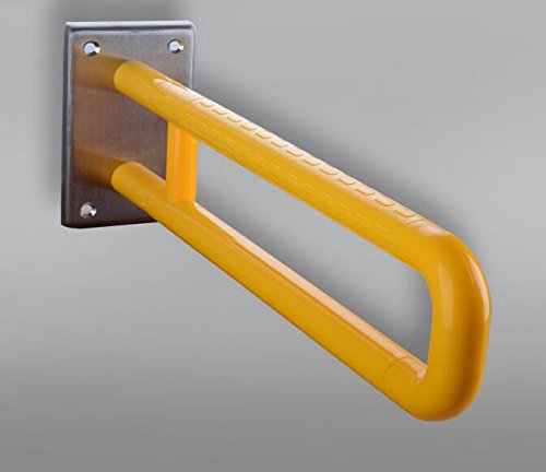 MDRW-Bathroom Handrail Toilet Nylon 304 Stainless Steel Handrail In The Bathroom Urinals Strengthen Armrest. Yellow by Olici