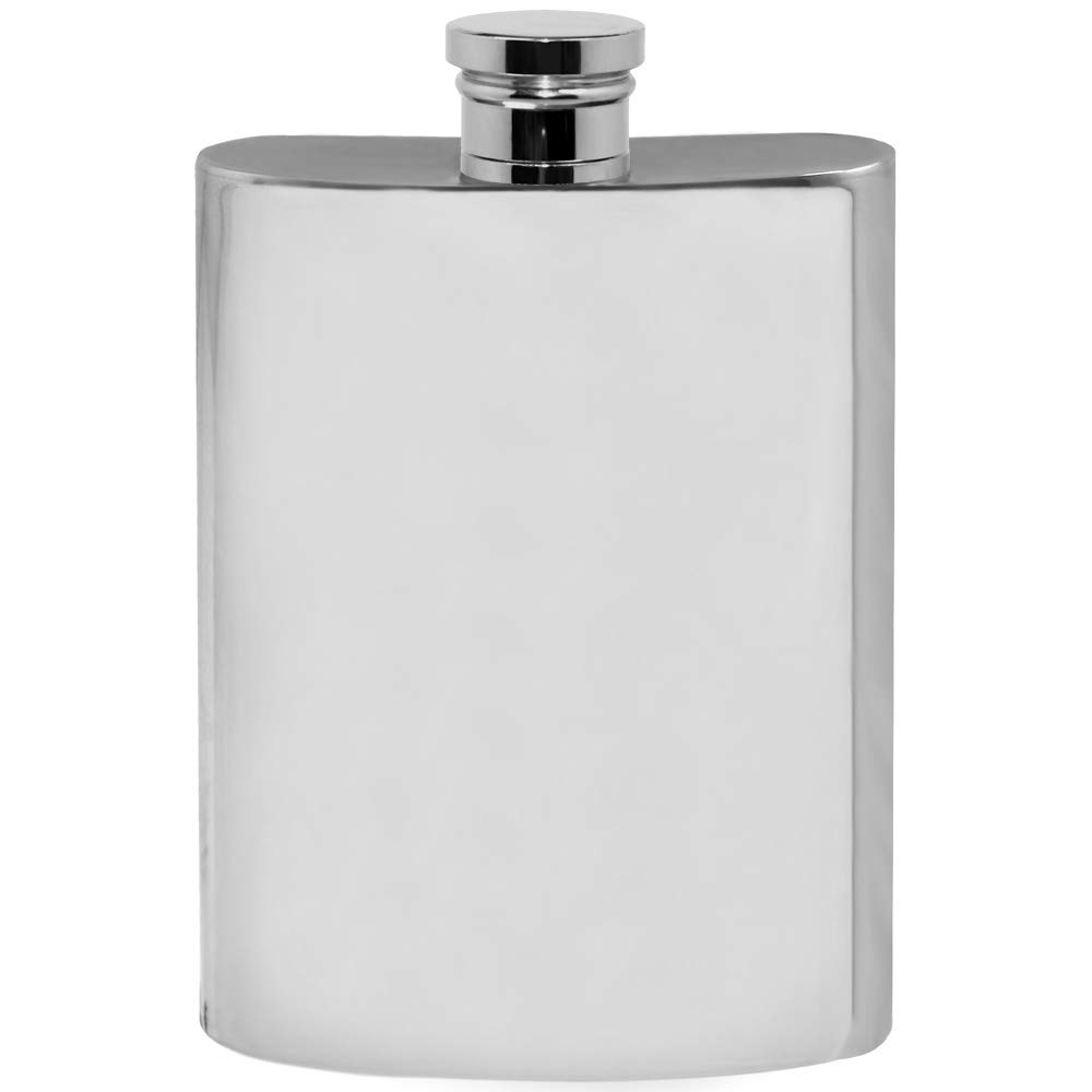 English Pewter Company 6oz Plain Pewter Liquor Hip Flask [FL256]