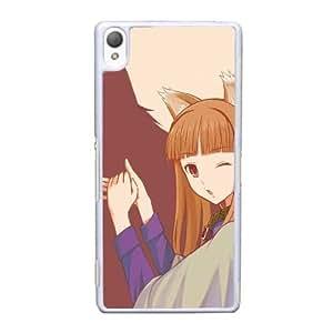 caja del teléfono celular Funda Sony Xperia Z3 funda blanca y especias lobo R1G1MS