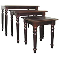 3 Pc Nesting Table Set in Cherry Finish