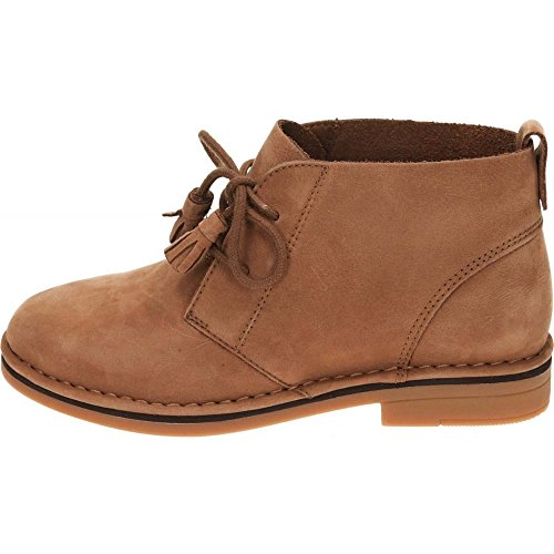 Hush Puppies Cyra Catelyn Lace Up Real Suede Leather Desert Boots Cognac GVqkevuup