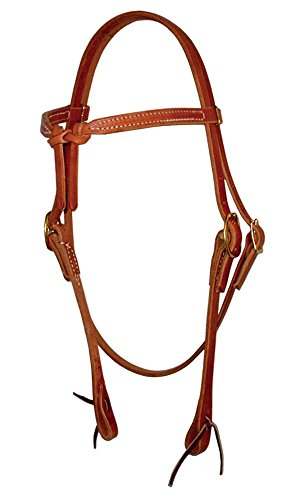 Berlin Custom Leather Headstall Hermann Oak Knotted Brow Oiled H200 ()