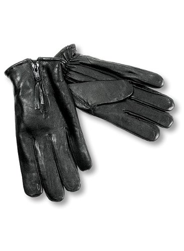 Interstate Leather Men's Basic Lined Gloves (Black, Large) Basic Riding Gloves