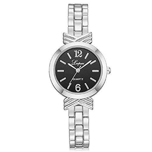 Amazon.com: Windoson Womens Quartz Watch Ladies Casual Bracelet Stainless Steel Wrist Watches (B): Electronics