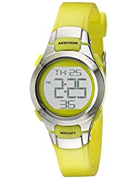 Armitron Sport Women's 45/7012LGSV Watch with Green Resin Strap