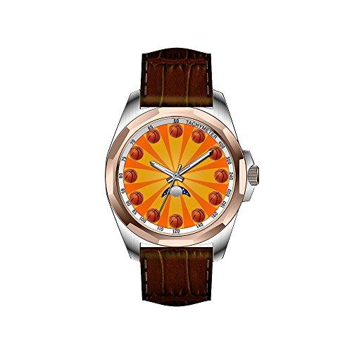 AIMS Christmas gift Mens gold Personalized Unique Fashion Design Waterproof Wrist Watch Basketball Wrist Watch