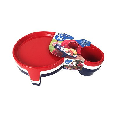 The Original Party Pal Plate Set (3 Pack), Red/White/Navy