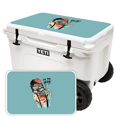 MightySkins Skin for YETI Tundra Haul Cooler Lid - Use Your Brain | Protective, Durable, and Unique Vinyl Decal wrap Cover | Easy to Apply, Remove, and Change Styles | Made in The USA -