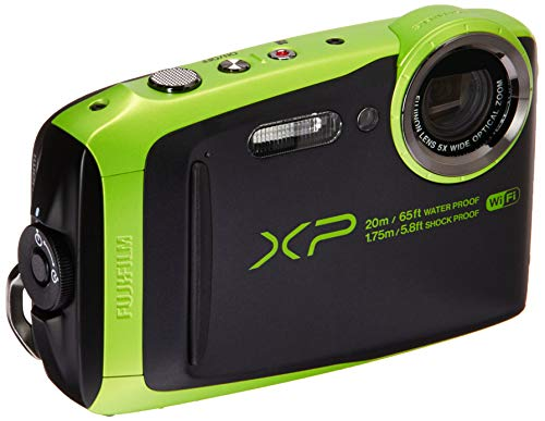 Fujifilm 600019756 FinePix XP120 Shock & Waterproof Wi-Fi Digital Camera, Black/Lime Green