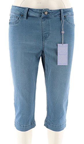 Laurie Felt Silky Denim Pull-On Pedal Pushers French Blue 1X New A290648 from Laurie Felt