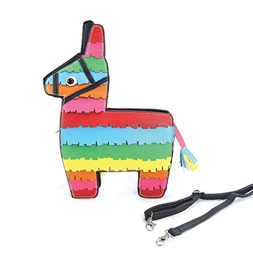 Piñata Llama Crossbody Shoulder Bag Purse ()
