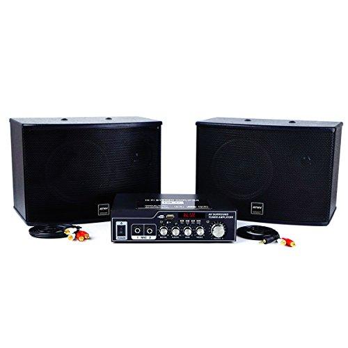 ATNY ATP-202 Karaoke High Fidelity Digital Amplifier & Speaker (Amplifier with Speaker, Black)