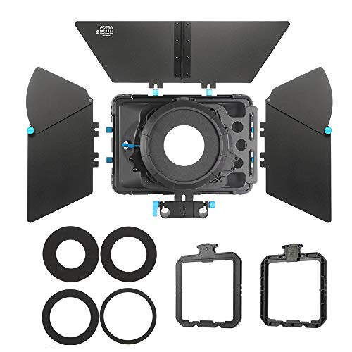 FOTGA DP3000 M2 Pro Matte Box Sunshade with Donuts /& Filter Trays for 15mm Rod DSLR Rig 5D II III 7D 6D D90 GH2