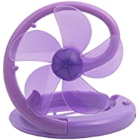 Chilling Summer Stylish Mini Folding Fans (Purple)