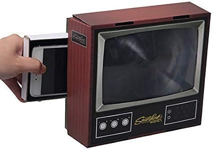 WUYEA Bricolaje Retro TV Forma Lupa de Pantalla de teléfono móvil Amplificador de Soporte de teléfono móvil: Amazon.es: Deportes y aire libre