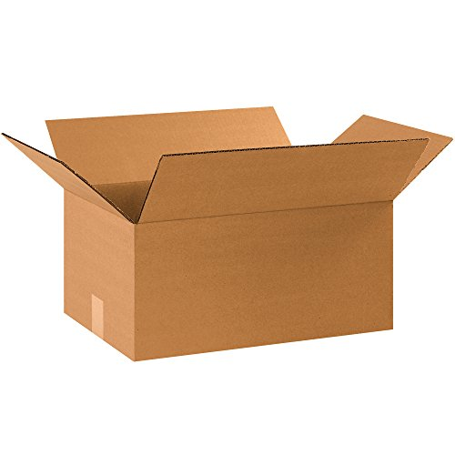 Partners Brand PHD151210MS Heavy-Duty Small Moving Boxes, 15' Length x 12' Width x 10' Height, Kraft (Pack of 25)