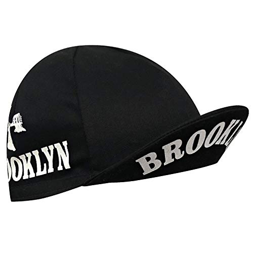 Brooklyn City Cycling Cap - Black with White Bridge ()