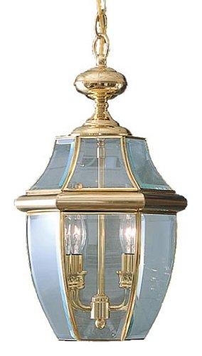 Quoizel NY1178B 2-Light Newbury Outdoor Lantern in Polished Brass