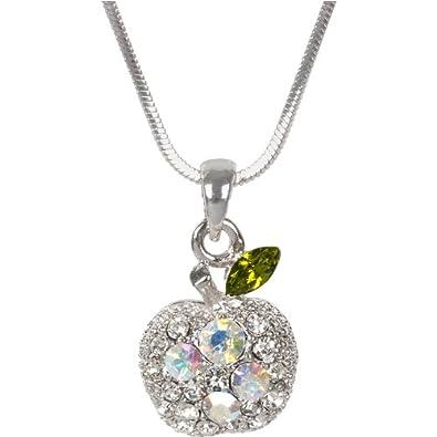 Amazon fire star jewelry swarovski crystal element apple fire star jewelry swarovski crystal element apple pendant necklace aloadofball Gallery