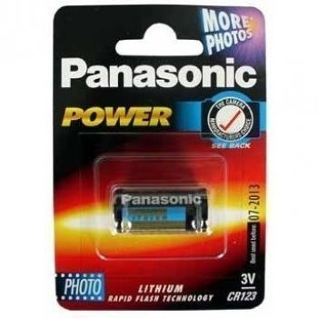 Cr123 Battery - Panasonic Photo Power, Lithium, 3V by Lindy