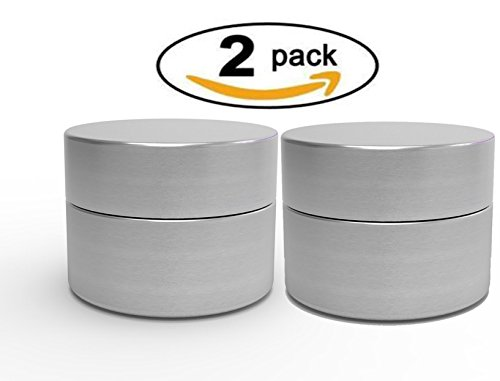 Herb Stash Jar | 2 Solid Aluminum Airtight Smell Proof Containers #1 Best WayTo Preserve Herbs Tobacco & Spices (Weed Proof)