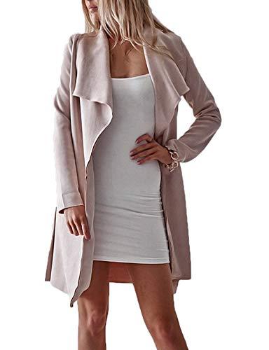 Soprabito Cime Tops Lana Cappotto Maglieria Autunno Donne Rosa Outwear Di Cardigan Con Moda Casual Bende Coat Giacca Lunga Manica Inverno Giacche OPXiZuTk