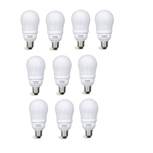 Set of 10 Energetic Lighting CFL 19 Watt - 90 Watt Equivalent E26 shape 2700K 1050 Lumen, Warm White, FE152 (8000 Life (2700k 8000 Hour Compact)