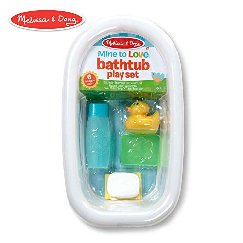 Melissa & Doug Mine to Love Baby Doll Bathtub and Accessories Set - White (6 Pieces)