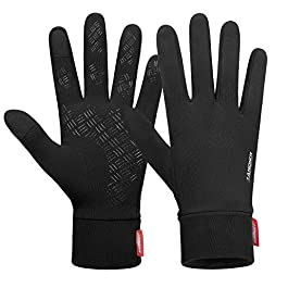 coskefy Running Gloves Touch Screen Thin Thermal Gloves Lightweight Winter Warm Liner Gloves Men Women for Sports…