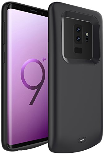 Galaxy S9 Plus Battery Case, PEYOU® 5200mAh No Extra Chin TPU Frame Protective Charging Case Extended Backup Charger Power Bank Cover For Samsung Galaxy S9+ 2018 Release