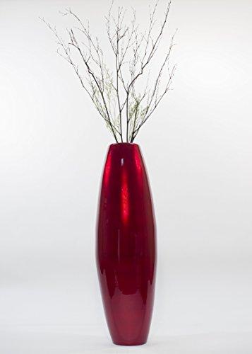 GreenFloralCrafts 36 in. Bamboo Cylinder Floor Vase & Bla...
