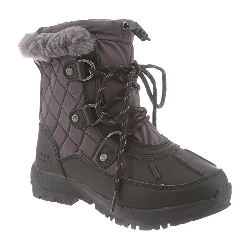 BEARPAW Kids Women's Bethany (Little), Black/Grey, 4 Big Kid M - Bearpaw Quilt