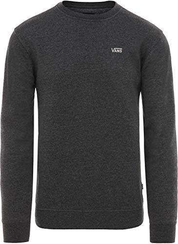 Vans apparel Nero Heather black Fleece Felpa Crew Bhh Basic Uomo ffgxHrd