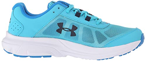 Under Armour Girls' Grade School Rave 2 Sneaker, Alpine (301)/Blue Circuit, 4 by Under Armour (Image #7)