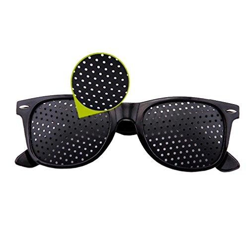 SHOLIND Vision Correction and Improvement Glasses,Eyesight Protection Eyewear Prevention of Near Eyesight Astigmatism Amblyopia with Small Holes 2-Pack
