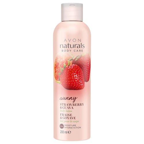 Crema di corpo Avon Naturals, fragola e guava 200 ml 18291