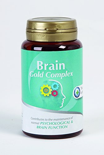 Brain Gold Complex – DHA/EPA, Vitamin B3, B6, B12, Tuna Oil, Folic Acid & Biotin. Natural Brain Health Formula for Stress, Focus, Energy, Memory, Psychological & Brain Function~ 60 capsules