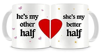 buy aldivo couples ceramic printed coffee mug valentine gift for