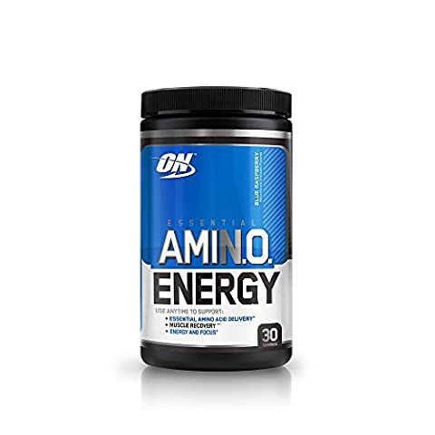 Optimum Nutrition Amino Energy with Green Tea and Green Coffee Extract, Preworkout and Amino Acids, Flavor: Blue Raspberry, 30 Servings
