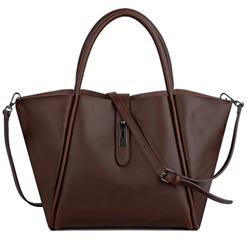 YALUXE Women's Crazy Horse Leather Shoulder Bag