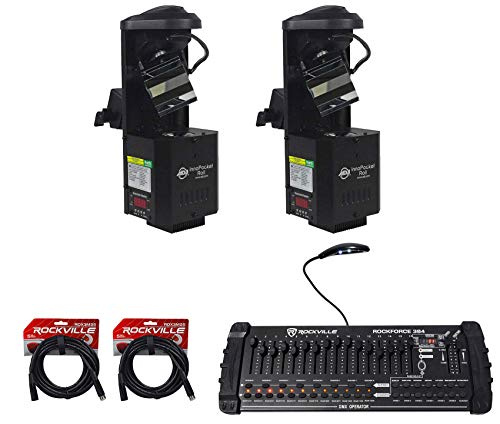 - (2) American DJ ADJ Inno Pocket Roll Barrel Mirror Scanner Lights+DMX Controller