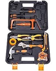 مجموعة 12 قطعة من ادوات الاعمال الشاقة مع حقيبة اسود / برتقالي / فضي