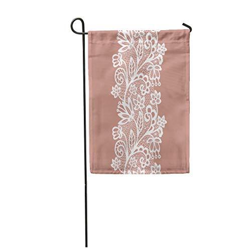 Semtomn Garden Flag Beige Lace White Lacy Vintage Elegant Trim Flower Abstract 28