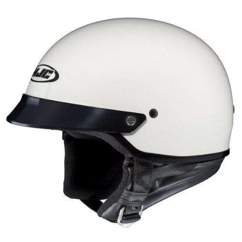 HJC CS-2N White Half Helmet - X-Large - Hjc Cs Air Helmet