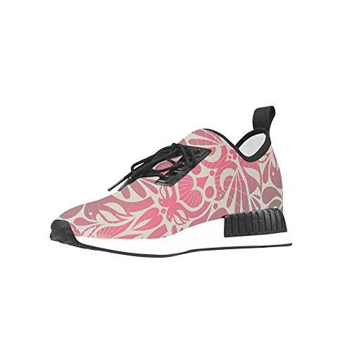 Floral Retro InterestPrint Pattern Running Shoes Trainer Birds Stylish Women Sneaker Fitness OSqqxAwEp